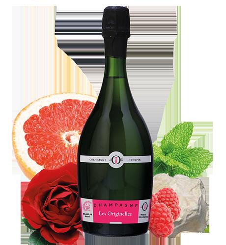 Les Originelles Julien Chopin Blanc de Rosé Brut produit par le Champagne chopin