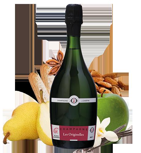 Champagne Blancs & meunier brut du Champagne Julien Chopin producteur de Champagne à Monthelon