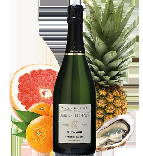 Cuvée Carte noire Brut nature du Champagne Julien Chopin