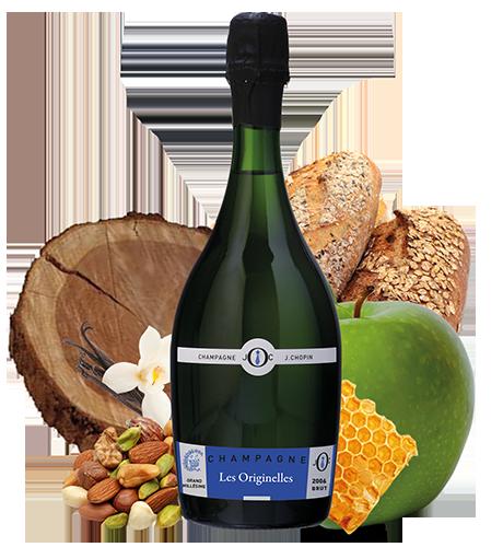 Champagne Grand Millésime produit par le Champagne Julien Chopin à Monthelon
