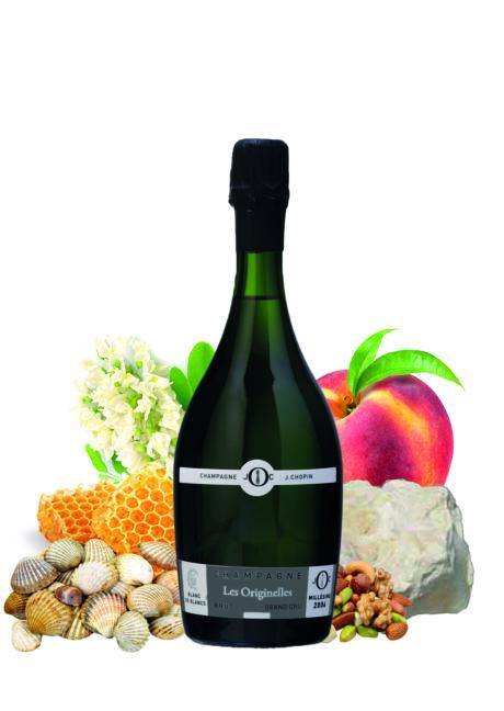 Les Originelles Blanc de Blancs Grand cru Millésimé Brut produit par le Champagne Julien Chopin près d'Épernay