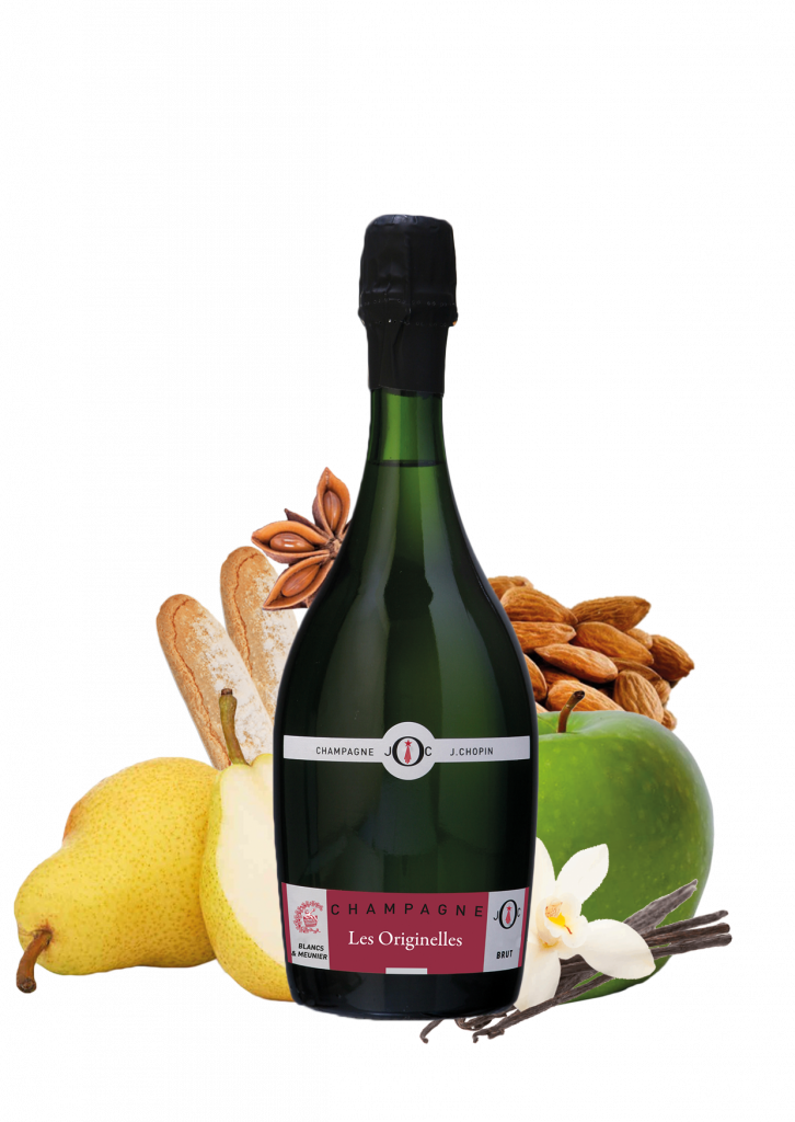 Blancs & meunier champagne is a cuvée from the originelles Julien Chopin range