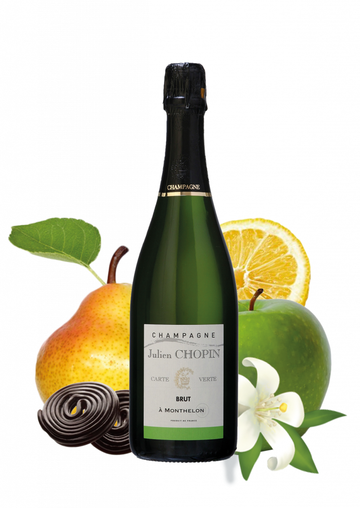 Carte verte champagne from the classiques Julien Chopin range produced by champagne julien chopin in Monthelon