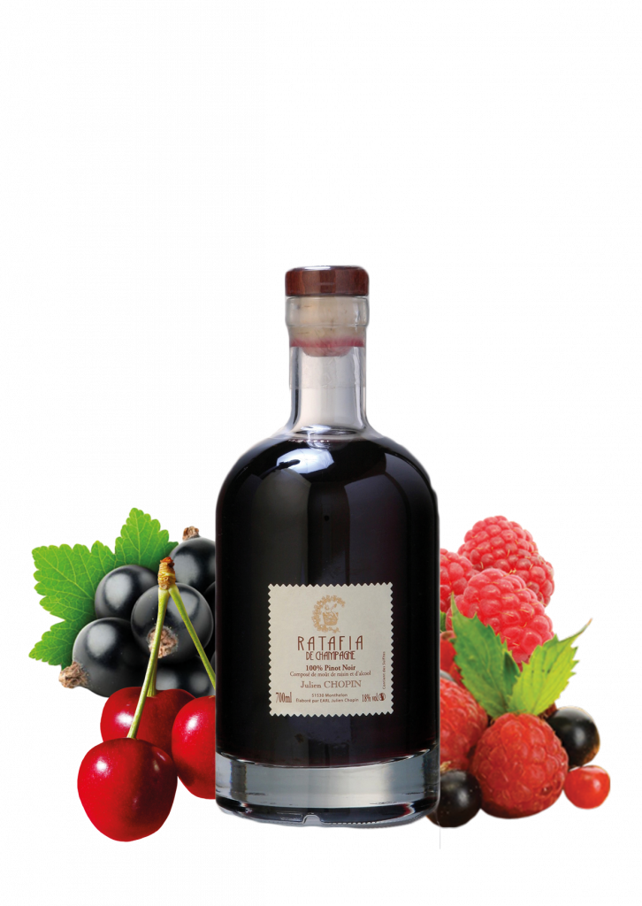 Pinot noir ratafia from ratafias champenois Julien Chopin range produced in Champagne