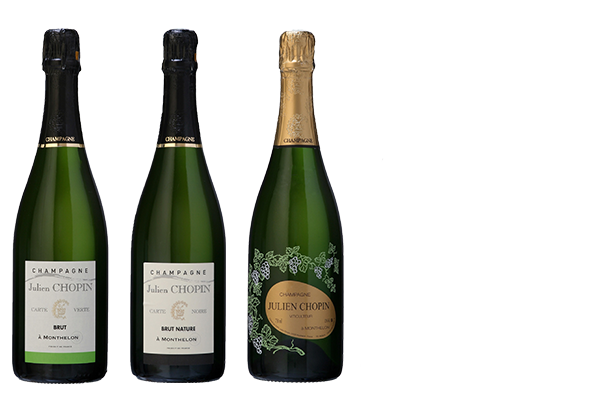 Les classiques champagnes range from Champagne Julien Chopin located in Monthelon mext to Épernay, the capital of Champagne