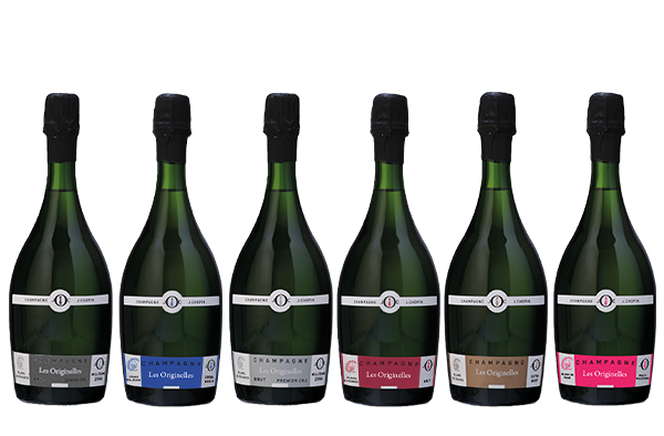 Les originelles champagnes from Champagne Julien Chopin, producer in Monthelon near Épernay in France