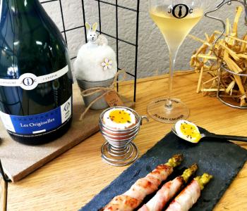 Mars recette oeufs à la coque accords mets vin Champagne Julien Chopin à Monthelon