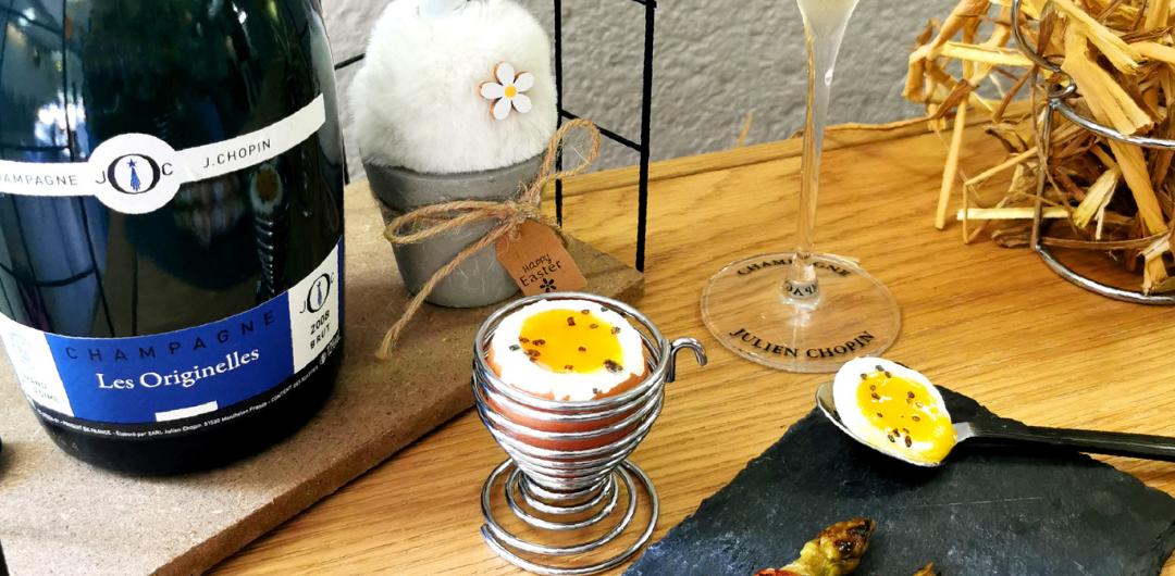 march receipe soft boiled eggs Champagne Julien Chopin