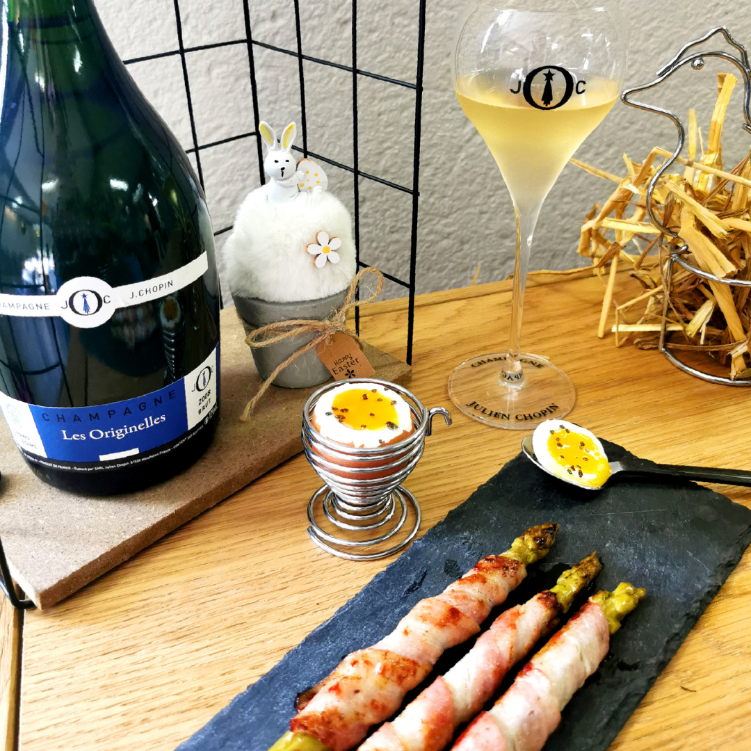 march receipe soft boiled eggs Champagne Julien Chopin